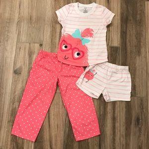 Carter's 3 Piece Pajama Set 3T